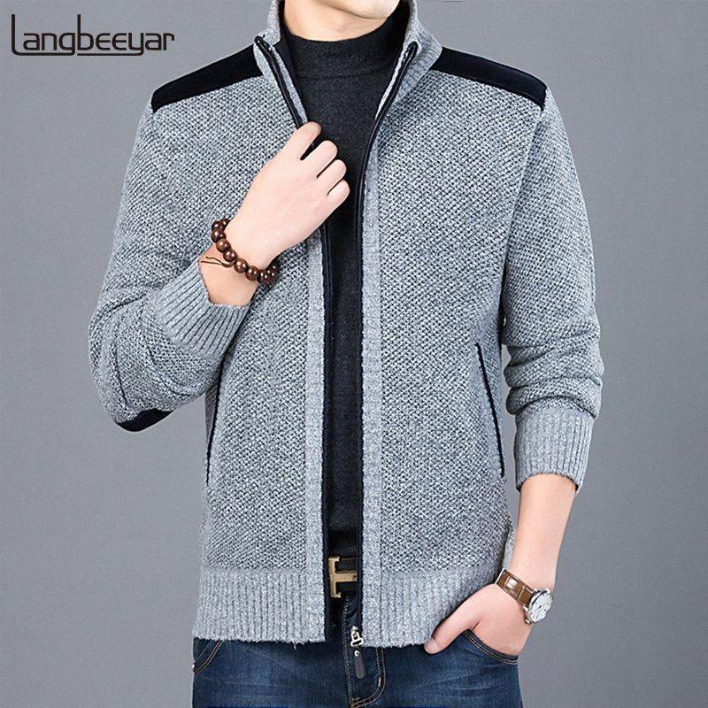 2020 2020 Thick neue Art und Weise Marke Pullover für Herren Cardigan Slim Fit Pullover Strick Warmer Herbst beiläufige koreanische Art Kleidung Männlich Afik #