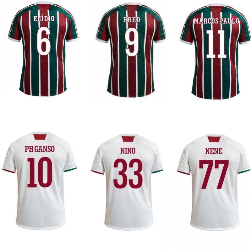 집에 2020 camisetas 드 푸 웃 엔리케 FRED PHGANSO 마르코스 PAULO HUDSON NINO 축구 유니폼 멀리 축구 셔츠