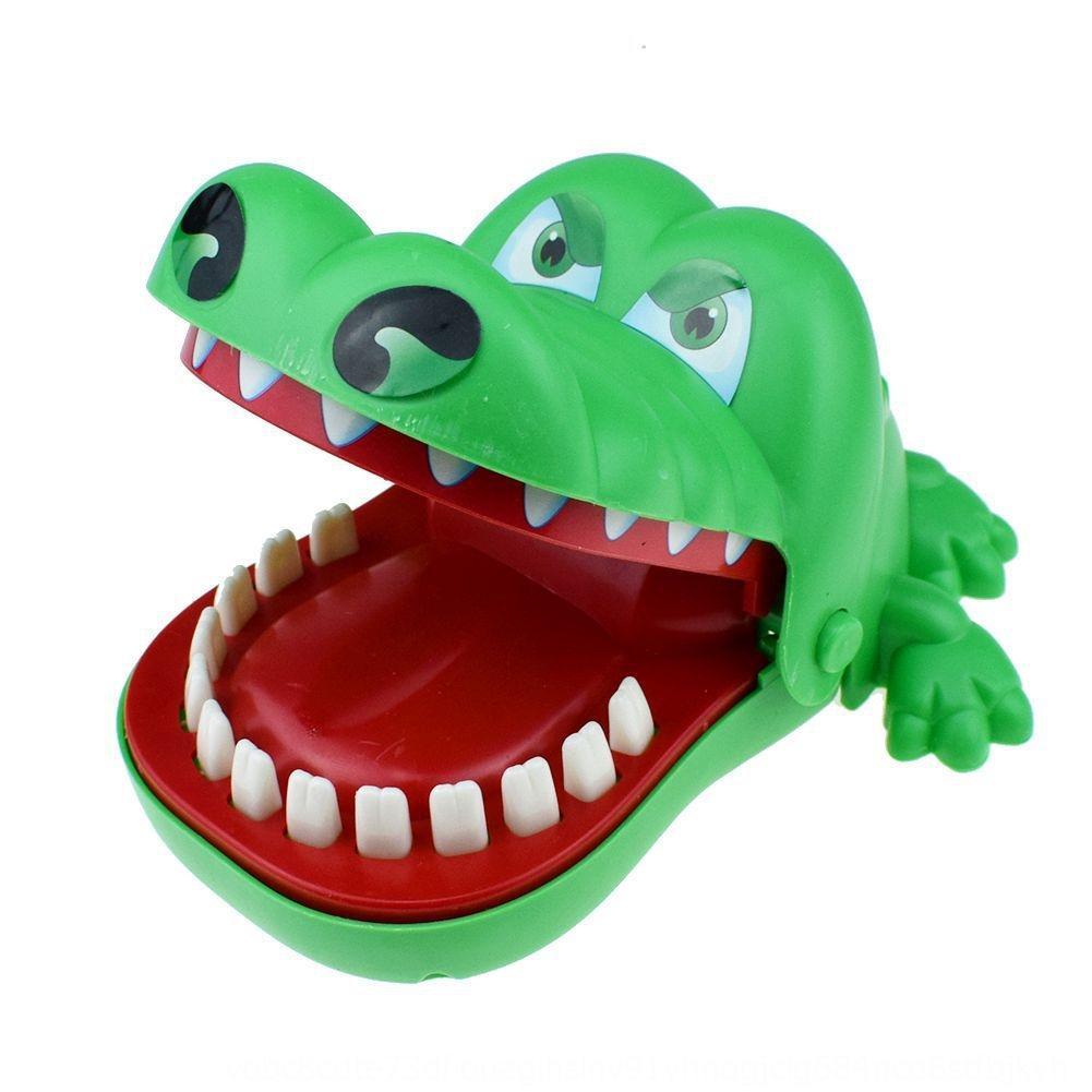 New mains mordre vert intéressants de jeu étrange conseil grand mordre le jouet de crocodile ensorcelé jeu de table de jouets Avril Fool Day