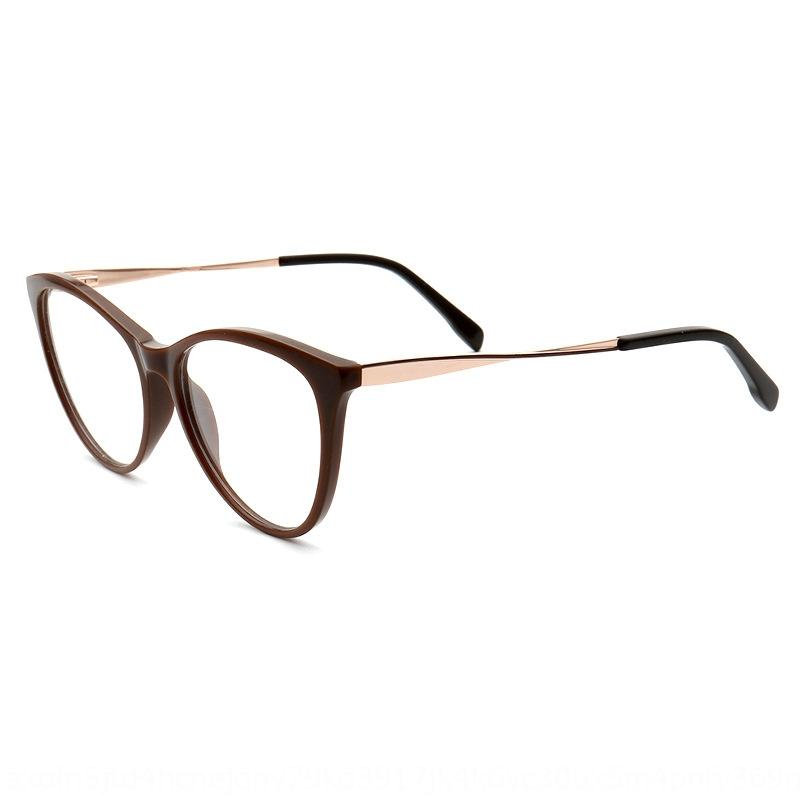 soleggiati nuovi anti-miopia vetri blu delle donne degli uomini della struttura della targa di piatto e occhiali 2019