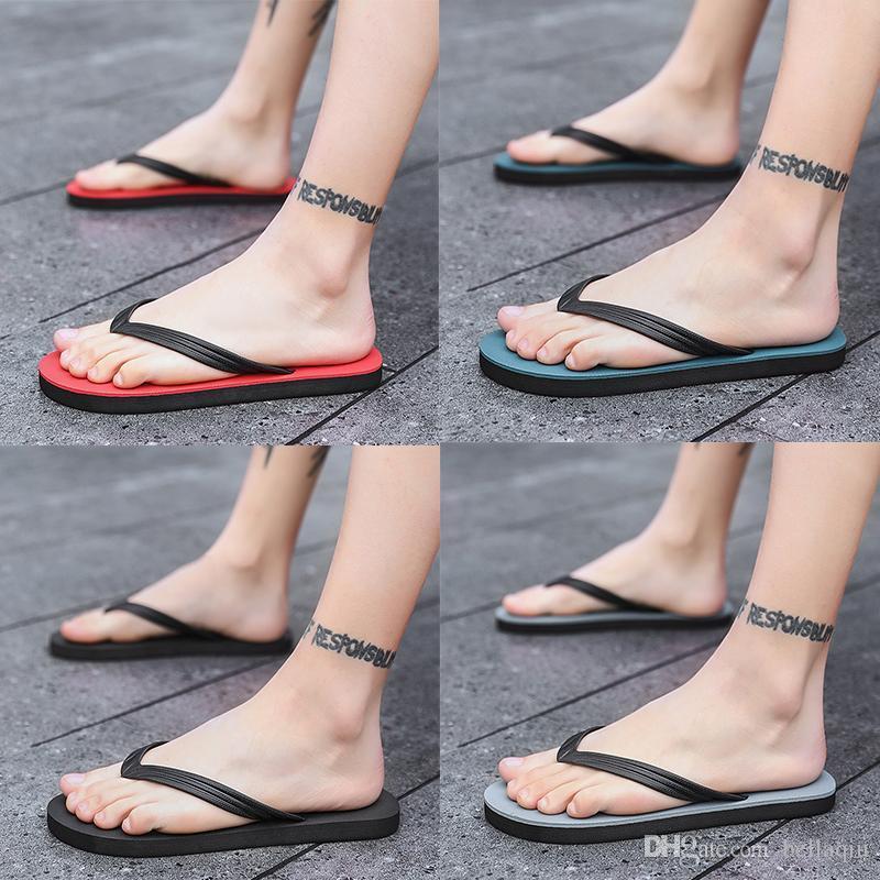 Neueste Herrenschuhe Designer Sandalen und Pantoffeln Sommer Gezeiten Marke Flip-Flops und weise beiläufige rutschfest verschleißfeste Außenstrandschuh