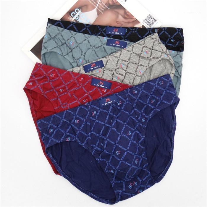 Underwears дышащий Mens Mid талией Трусы в горошек 5XL Повседневный Удобные трусы Мужской Daily