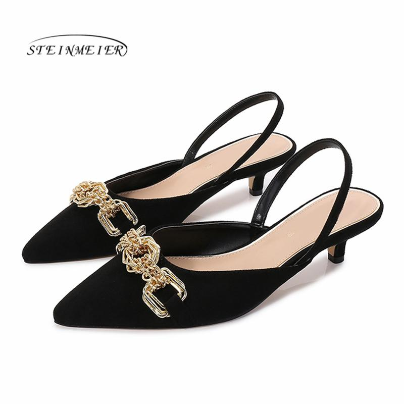 Women Summer Sandals Sexy High Heels Women Thick Pointed Toe Heel Sandals Pumps Sexy Party Shoes Wedding Shoes 2020