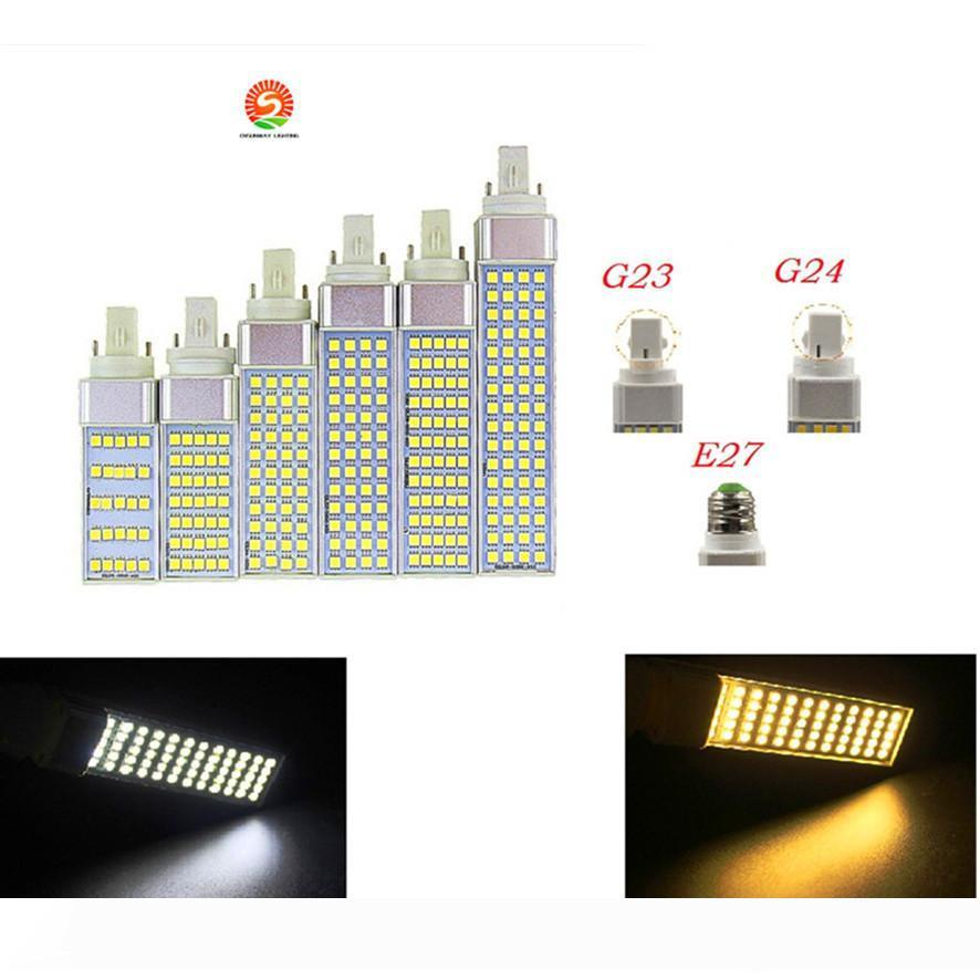 SMD 5050 Horizontal Plug lights E27 G24 G23 led corn bulb 180 degeree AC85-265V 5W 7W 9W 11W 13W led lighting Indoor lamp