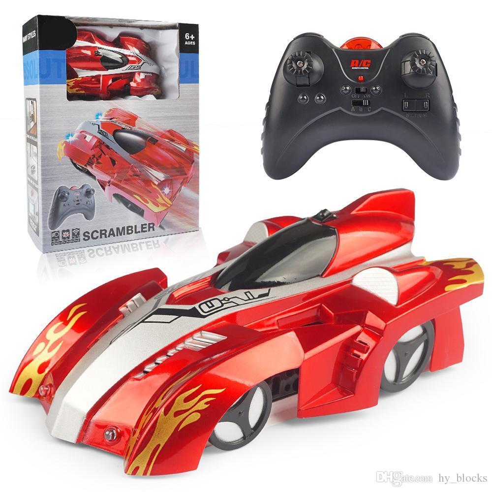 RC Car Racing Car Toys Elektrische Decken Kletterwand Rotating Stunt Fernbedienung Spielzeug-Auto-Modell-Geschenk für Kinder 05