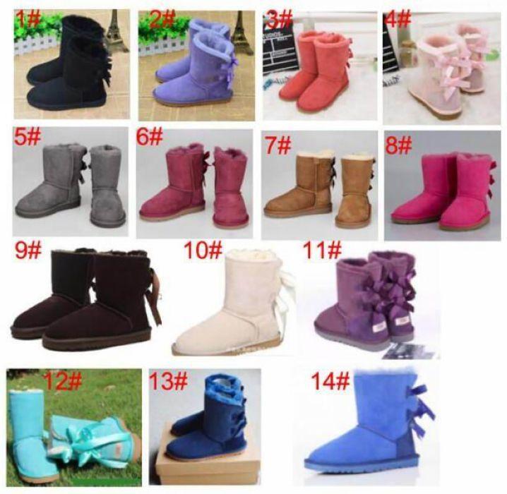 Tüp kar botları pamuk ayakkabı SICAK SATIŞ çocuklar yetişkin EU21-44 Büyük boy Düşük fiyat yeni Avustralya kar botları kalın deri yay