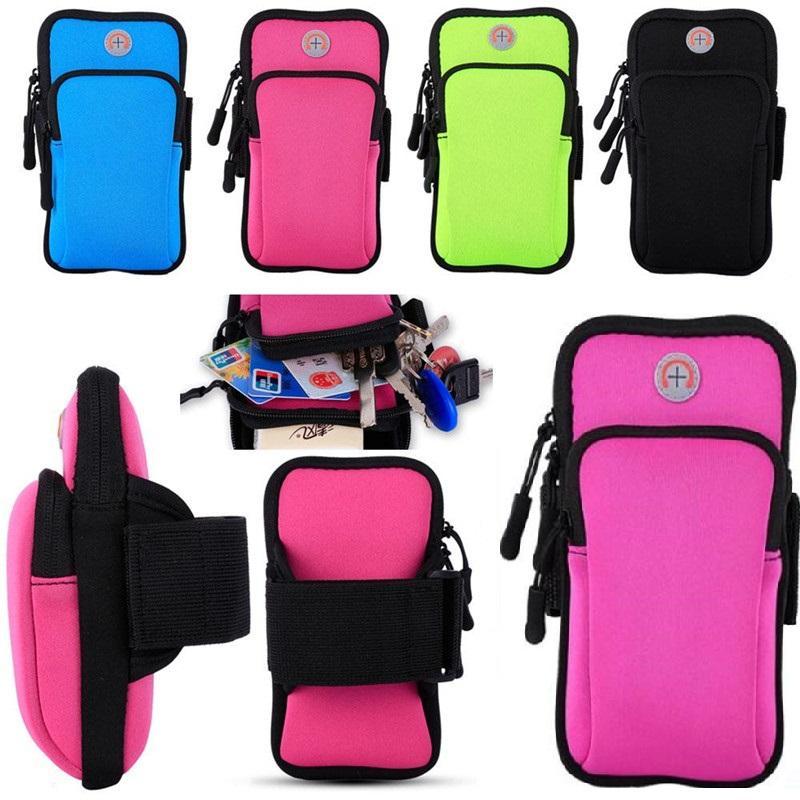 Спортивная сумка Молнии Фитнес Бег повязку сумка Беговые тренировки Обложка для мобильного 7Plus Smart Phone Bag (4-6inches)