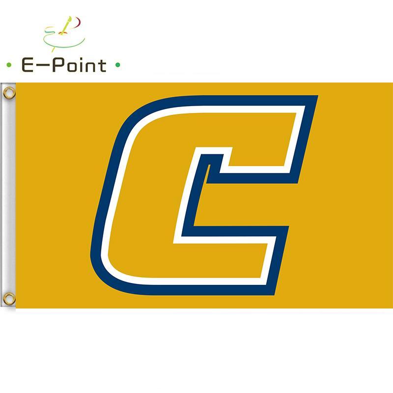 Bandera de la bandera de poliéster NCAA Chattanooga Mocs 3 pies * 5 pies (150 cm * 90cm) indicador de la bandera de la decoración de volar a casa regalos del jardín al aire libre