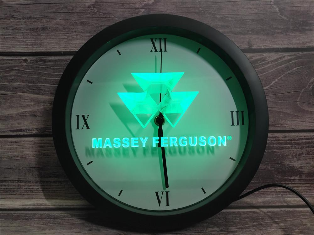 0G187 ماسي فيرغسون جرار APP RGB LED النيون ساعة الحائط ضوء علامات