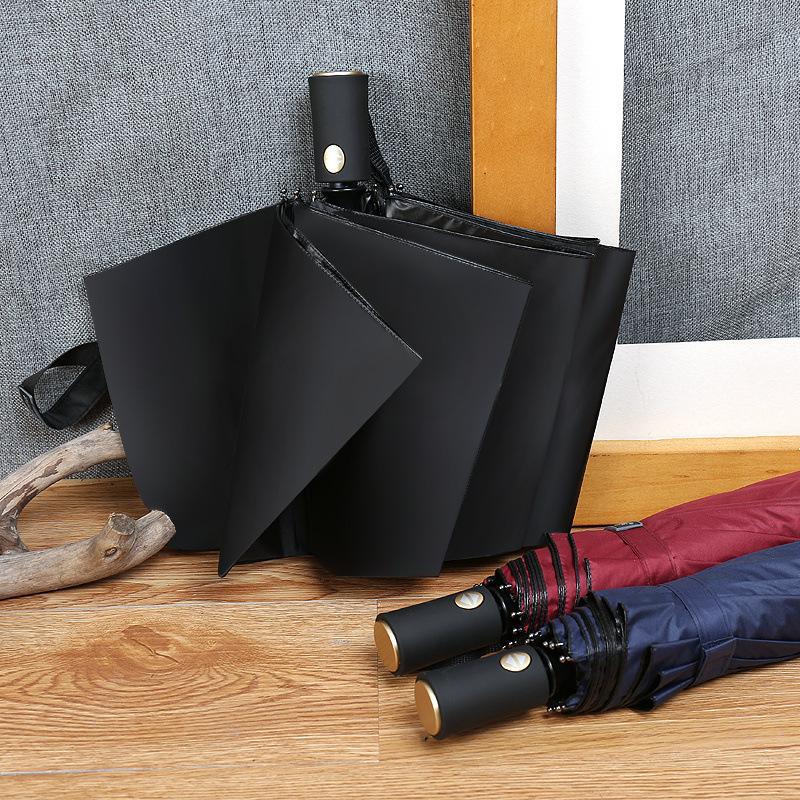 atualização tamanho. Alta qualidade de negócios guarda-chuva de três vezes automático dos homens, proteção UV guarda-chuva umbrella.Family