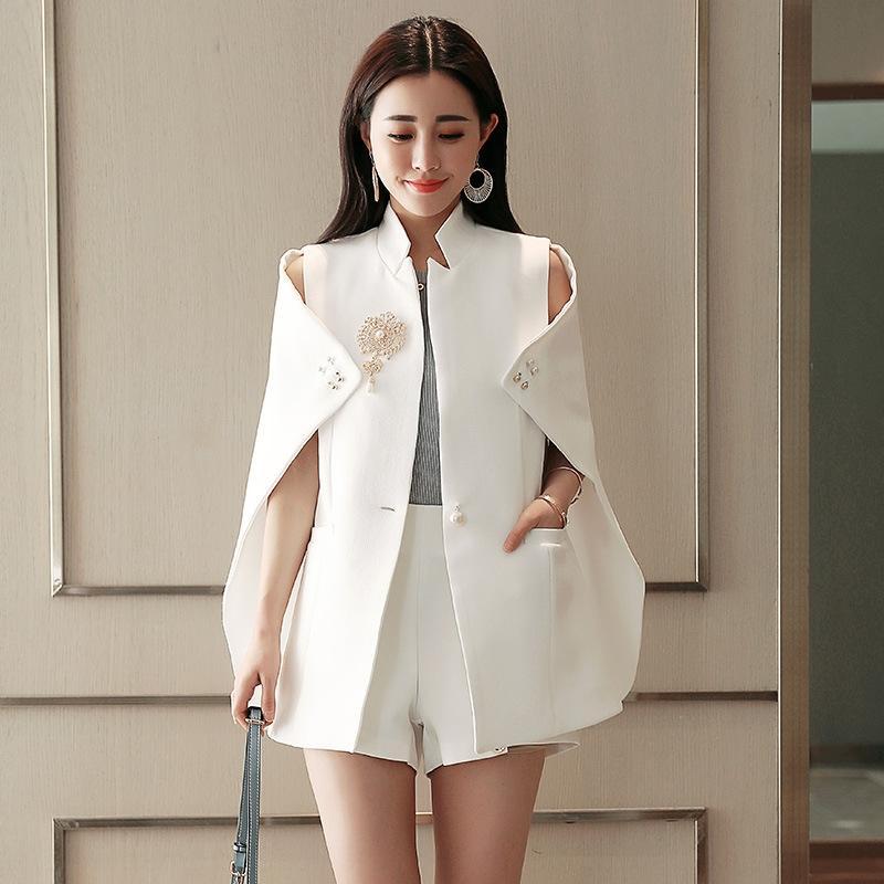 dZjN5 Cloak personalizado roupa do corpo Windbreaker roupas do corpo encobrir digite 2019 sem mangas revestimento do outono decoração tridimensional de uma peça
