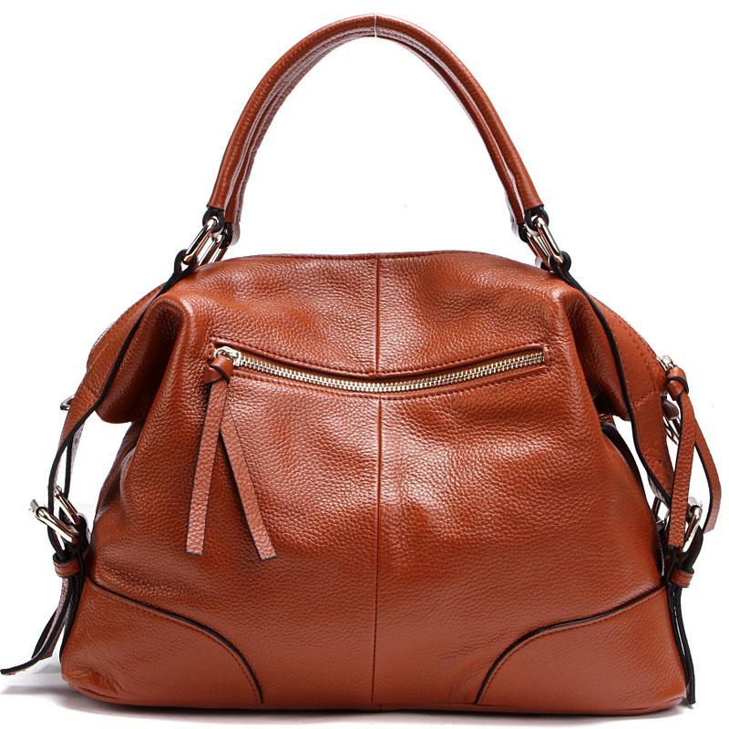 100% Top-echtes Leder-Frauen Messenger Bags Erste Schicht Rindleder Crossbody Taschen Female Designer Schulter Tasche PS01