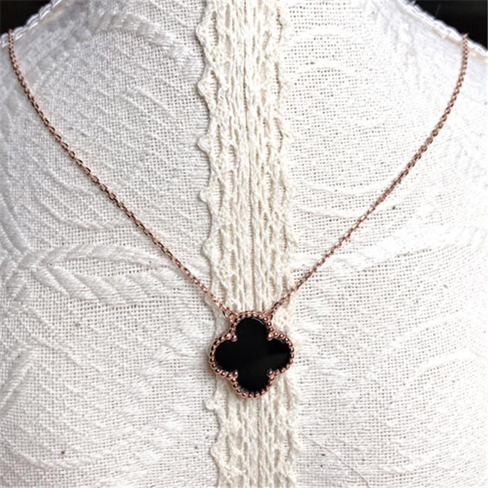 925 Gümüş Yonca Kolye kadın tasarım anlayışı clavicle zincir 2020 yeni kolye