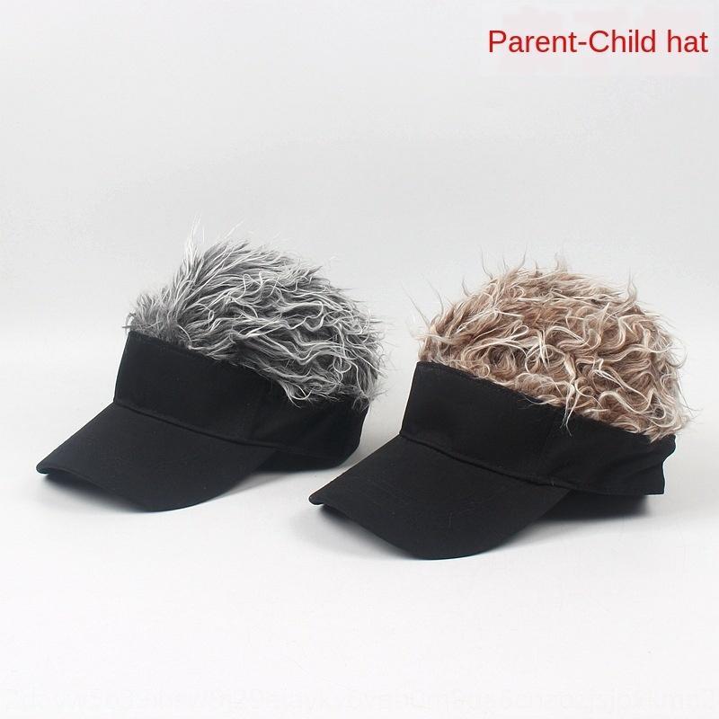 Perruque baseball perruque chapeau-enfant parent casquette de baseball de tendance rue chapeau de soleil en plein air