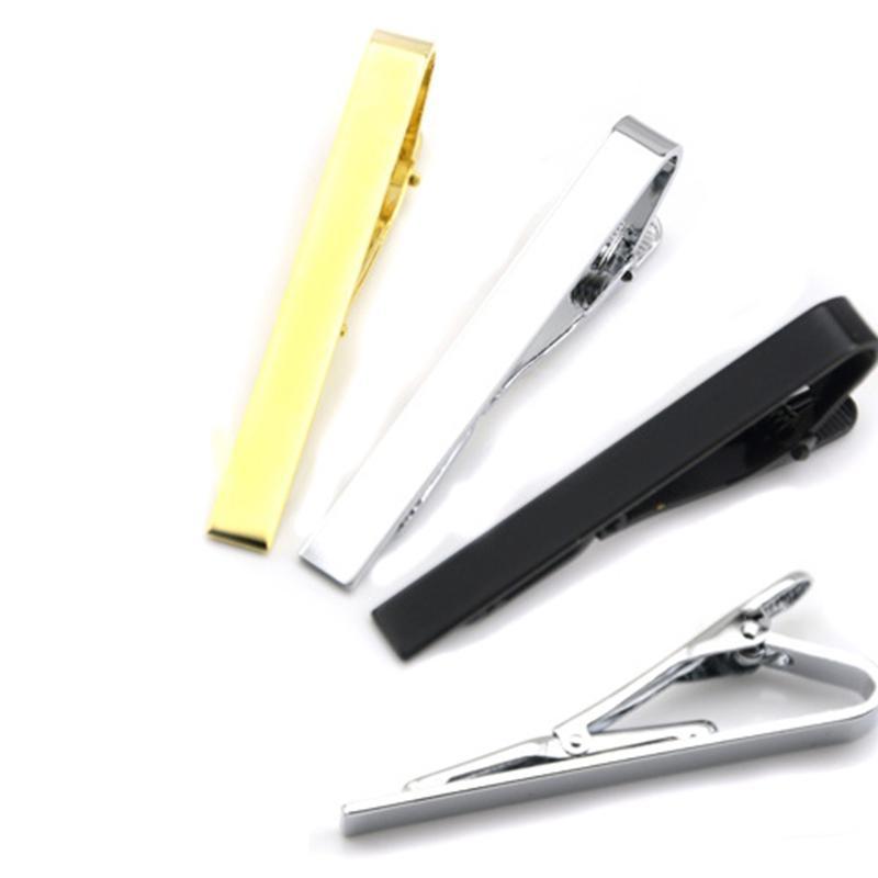 Glaze Silver Gold Black Tie Clips Trajes de negocios Camisa Corbata Corbata Bar Class Joyería de moda VS Gemelos Boutons de Manchette Drop Ship