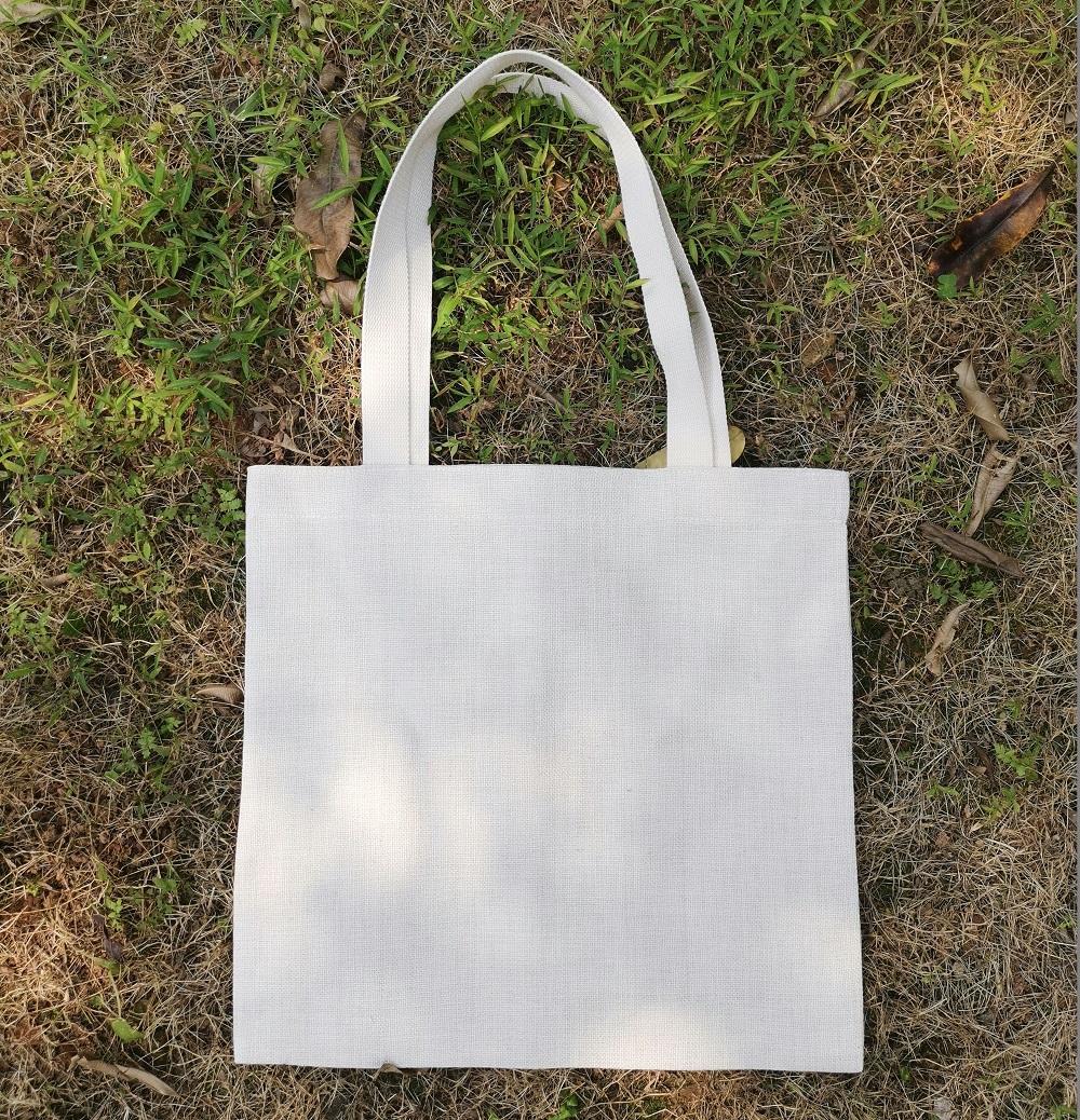 totes sac de rangement en lin blanc sac beige lin faux sac à main achats poly-lin uni blancs de sublimation bricolage 1 Tran