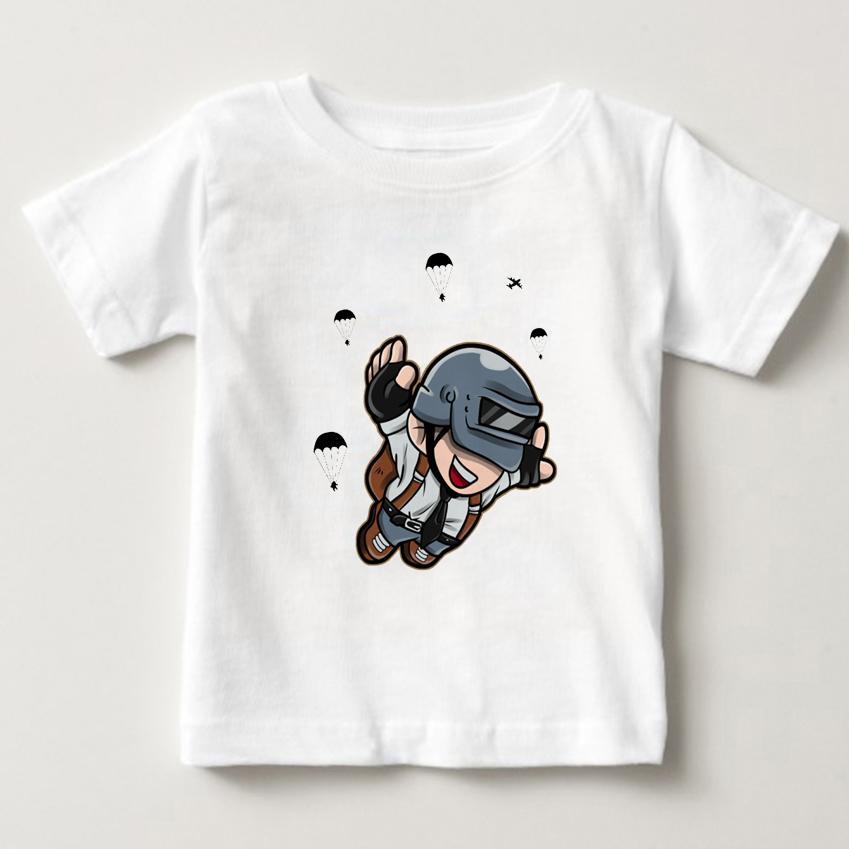 2019 Özel Çocuk T Shirt Yuvarlak Yaka Kısa Unisex Playerunknowns Bgler Pubg Giyim Tees İçin Boy Tişört Dijital