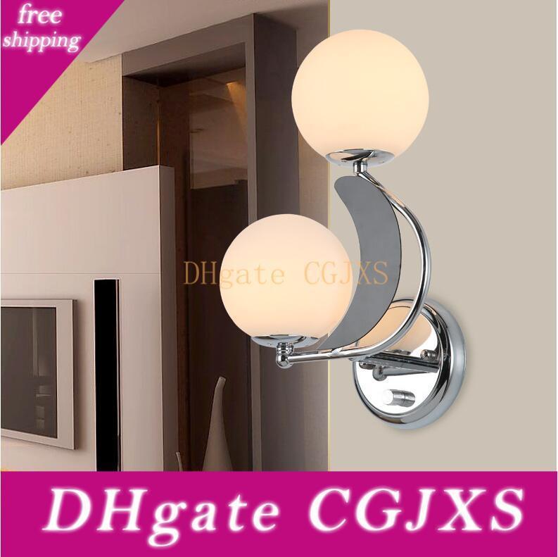 Cabeceira Lâmpada de parede Sala Quarto Quarto Duplo cabeça do LED Corredor Corredor Varanda luzes simples e acolhedora Wall Light
