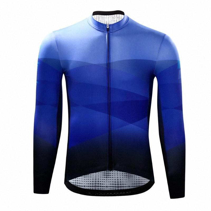 CHEJI los hombres de Pro equipo maillot de manga larga de bicicletas Bicicleta rápida en seco camisa de la ropa superior # YJDh