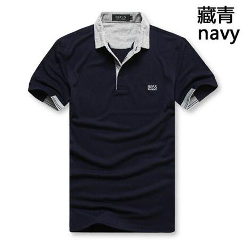 мужского лето 2020 Mens лето Марка модельер футболка с коротким рукавом Top M-XXL хлопок высокого качества Mens с коротким рукавом БОСС