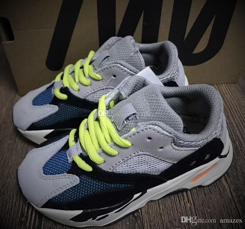 Kids Wave Runner 700 Kanye West Running Shoes Boys Girls Trainer Sneakers 700 Sport Shoe Children Athletic Sneaker Come with Box