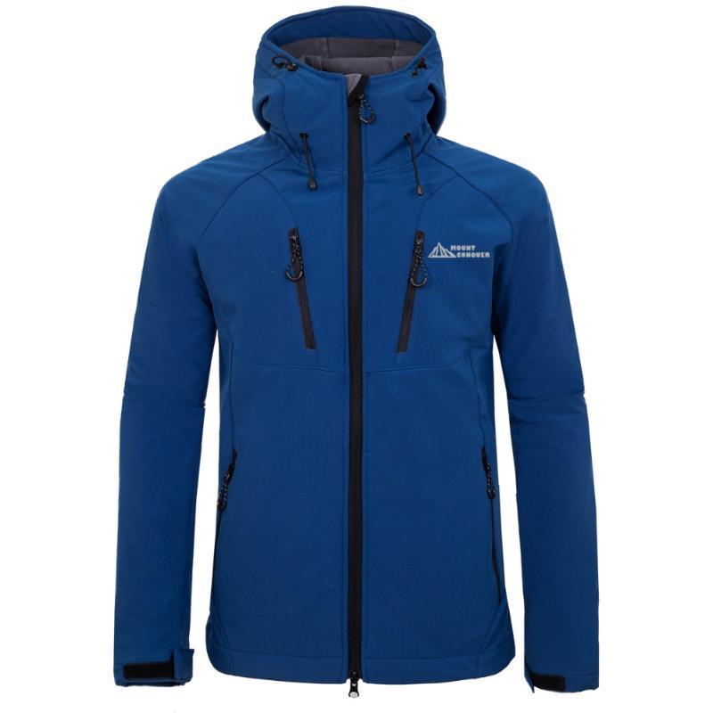 Dağı Conquer Marka Erkekler Yürüyüş Ceket Yumuşak Polar Ceket Windproof Nefes Etanj Açık Spor Giyim Binme Giyim