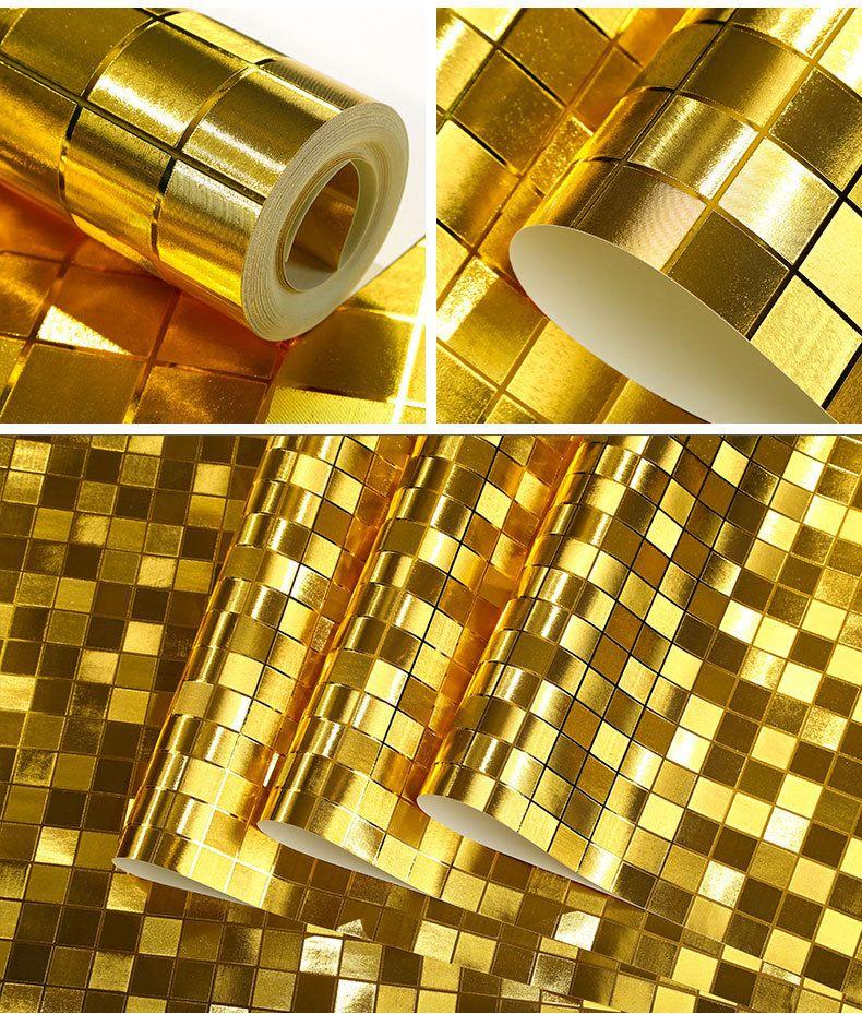 Hot Luxurious 3D Goldfolie Tapete klassische Silberfolie große Hauptwand Decke TV Hintergrundbild