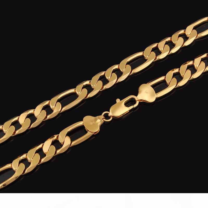 R 18 K ouro amarelo Gf banhado Figaro Cadeia Garantia Colar Made In China vitalícia