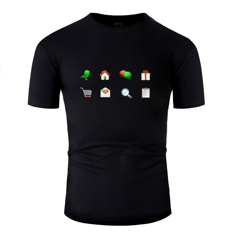 Raffreddare comico icone di colore Candy maglietta per gli uomini 2020 Maschio Euro Size S-5XL Stampa uomini della maglietta impressionante Hip Hop Umorismo