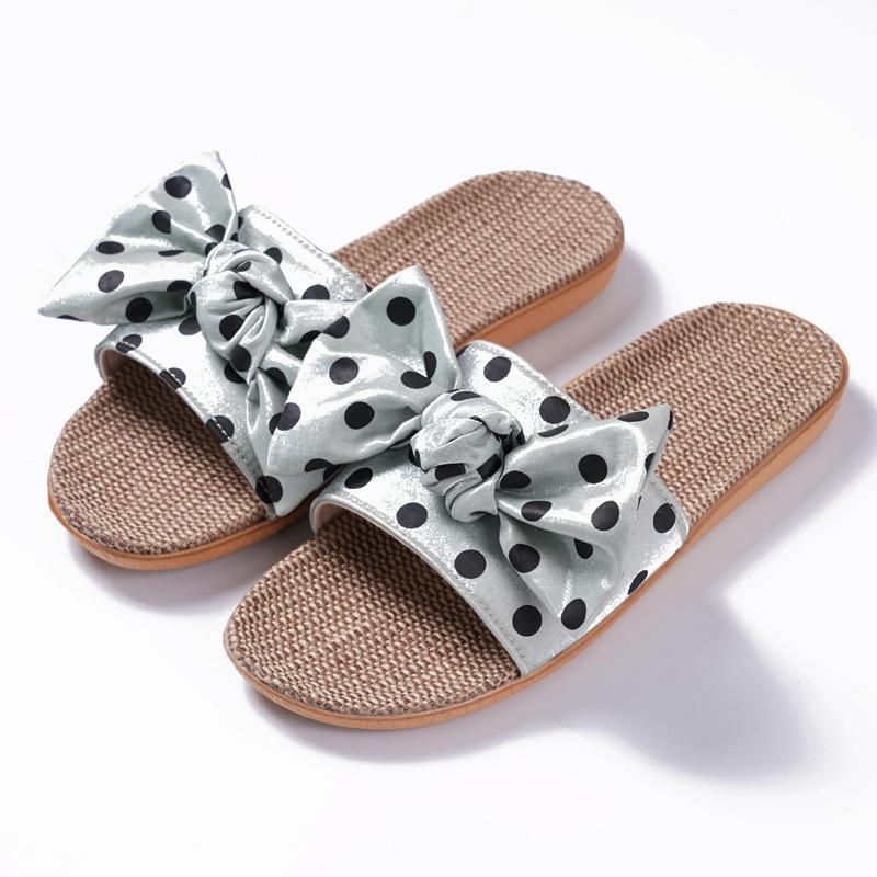 Zapatillas lino lunar lunar punto interior 2021 verano hembra coreano lindo punta abierta sandalias flip chapls zapatos mujeres