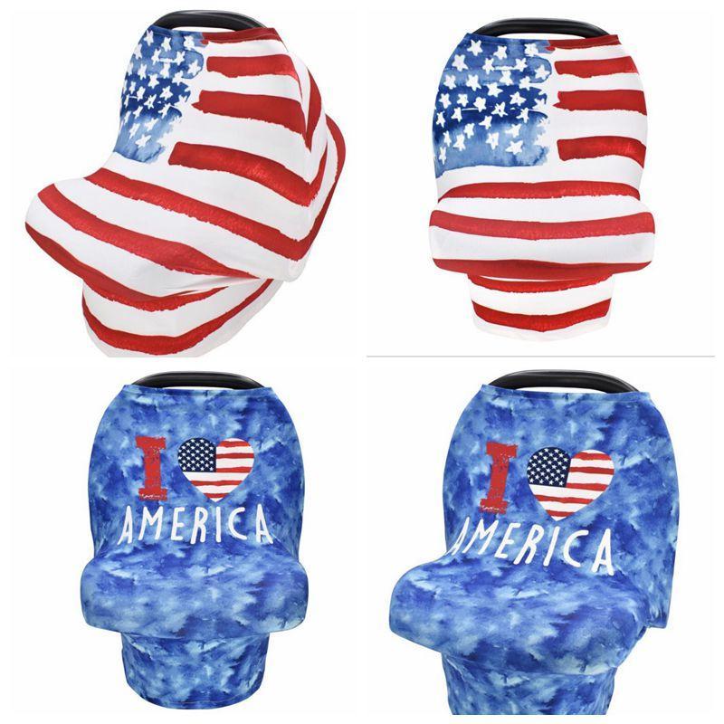 Nursing Abdeckung Kinder Stillen Kinderwagen Abdeckung Junge Mädchen Cozy Carseat Canopy-Baby-Autositz für schwangere Frauen Druckflag Handtuch Decke DHD170