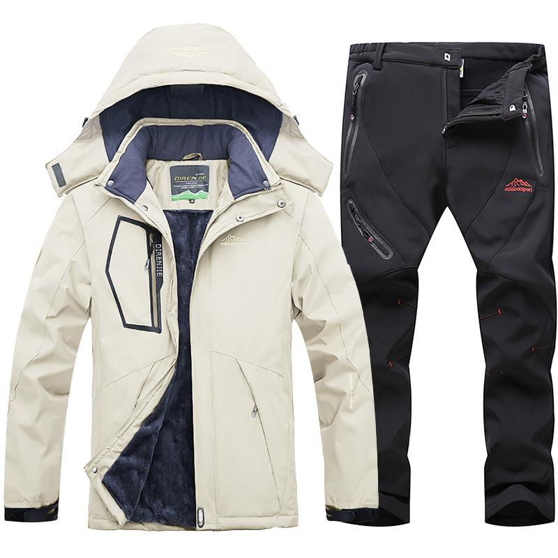 Skiing Jackets Winter Ski Suit For Men Windproof Waterproof Warmth Jacket And Pants Snow Clothes Snowboarding