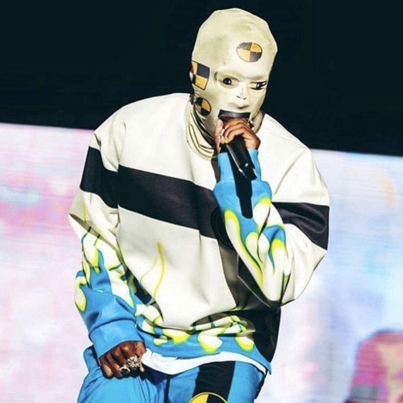 20SS Calle Robot máscara cubierta de la cabeza de la manera DIY máscara facial Pareja Hombres Mujeres Hip-hop Sombrero HFXHMZ001
