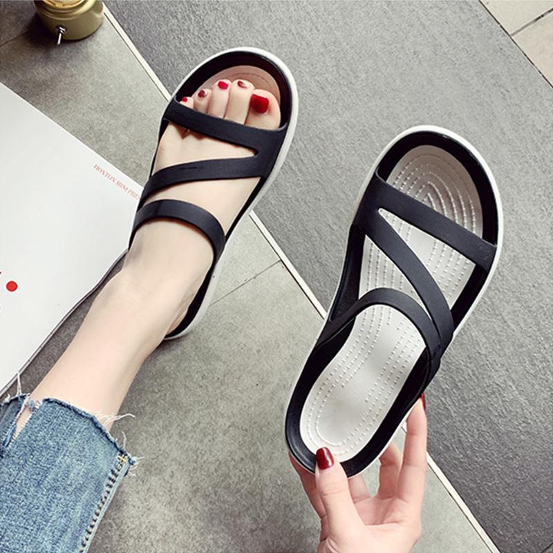 Indoor Woman Lila Slipper Gelee Schuhe Weibliche Comfort-Strand-Schuhe der Frauen-Sommer-Damen Outdoor Schuhe Frauen Non Slip Wohnungen