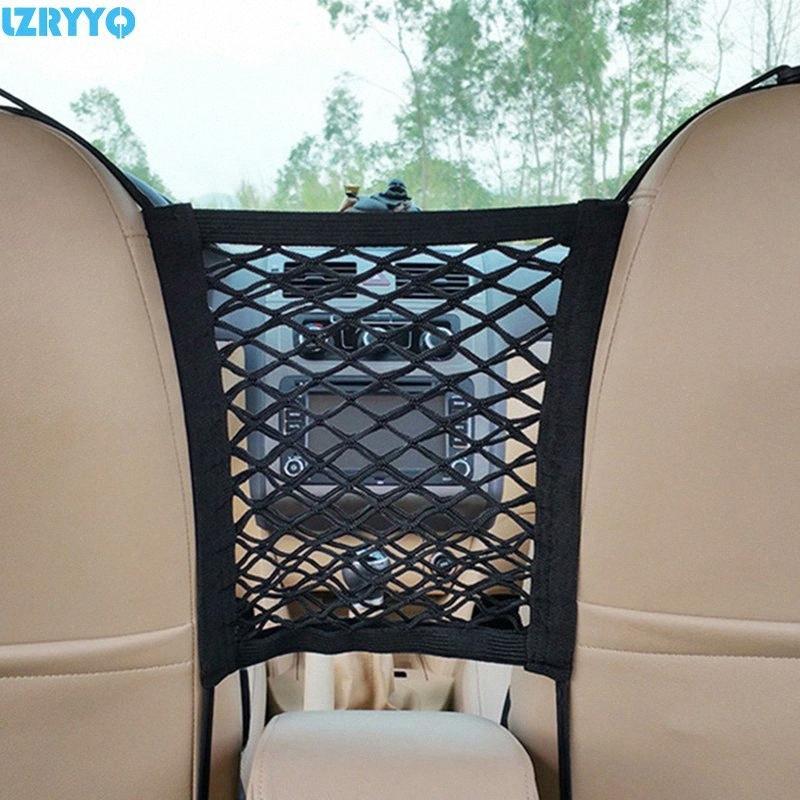 30 * 23 centímetros do assento Universal Plastics Frente Car Auto Elastic Cordas Net Organizer Malha saco de armazenamento de bolso gaiola uso no carro preto axt0 #