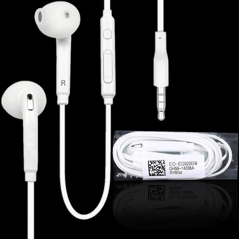 Fones de ouvido de 3.5mm no fone de ouvido estéreo fone de ouvido fones de ouvido com microfone e controle de volume remoto para Samsung S7 S6 S6 Edge