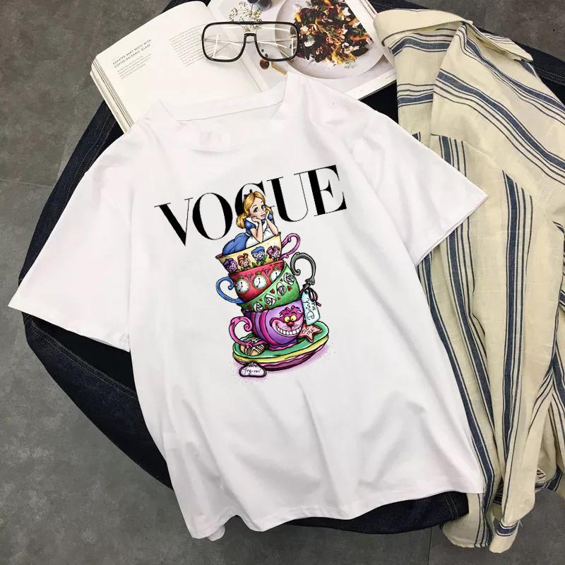 La princesse de la Coupe du T-shirt graphique esthétique femmes Vogue Vêtements Ulzzang Hauts Harajuku T-shirts d'été Taille Plus Camiseta Mujer