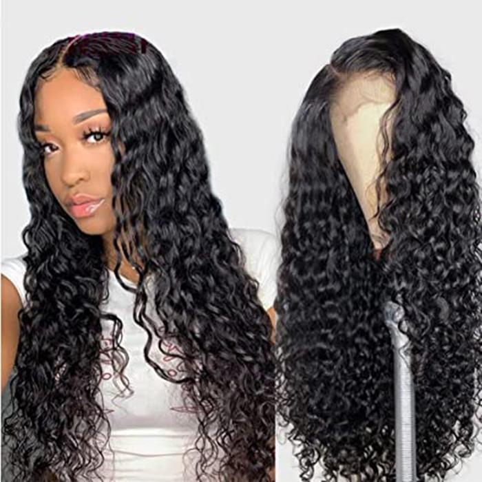 Kinky Kıvırcık 360 İnsan Saç Peruk Siyah Kadın Brezilyalı Virgin Saç Kıvırcık Peruk İnsan Saç Dantel Açık Peruk Öncesi Mızraplı% 150 için