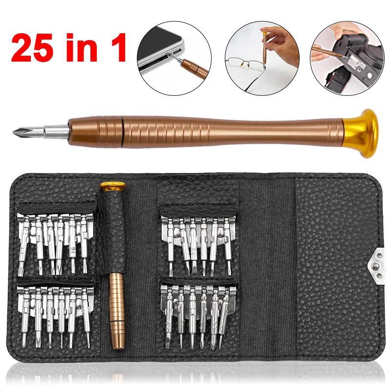 25 in 1 cacciavite Repair Tool Set per IPhone cellulare Android Tablet PC mano Strumenti Strumenti di riparazione Kit