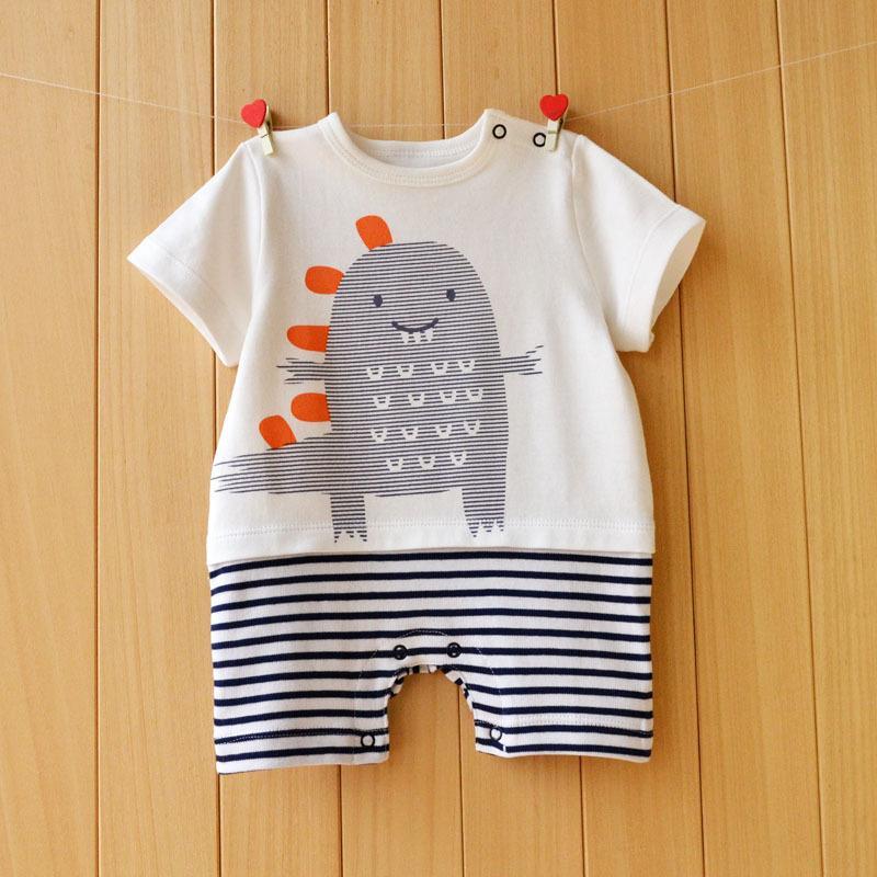 Yaz tarzı bebek tek parça% 100 pamuk güzel bebek kıyafetleri Tulumlar Roupas De Infantil giyim romper