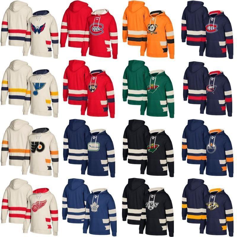 Хоккейные толстовки Вашингтон Столицы Монреаль Канадинс Ванкувер Канакс Con Columbus Blue Jackets Minnesota Wild St. Louis Blues Пользовательские изделия