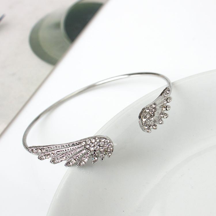 acessórios de moda definido asas trado do transporte livre anjo pulseira Personalidade liga de cristal pulseiras atacado