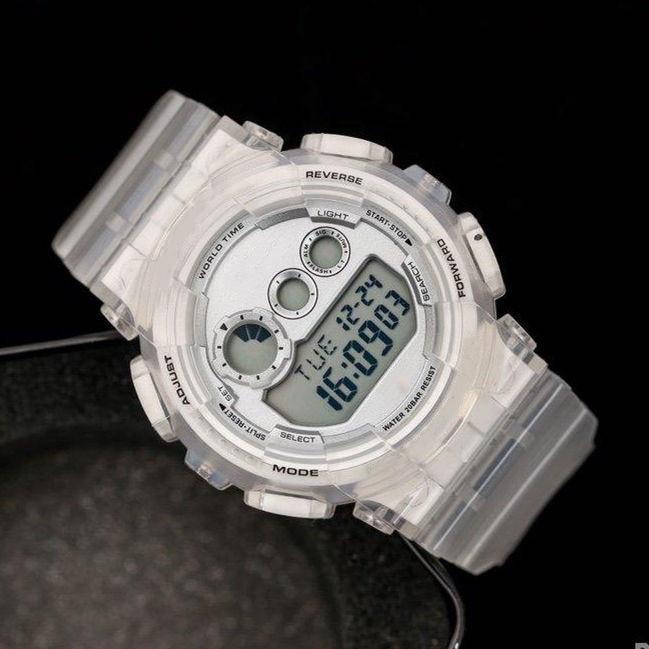 2020 Мужская G Sport Наручные часы Прозрачный резиновый силиконовый Shock Military светодиодные цифровые часы хронограф кварцевый механизм Часы Часы