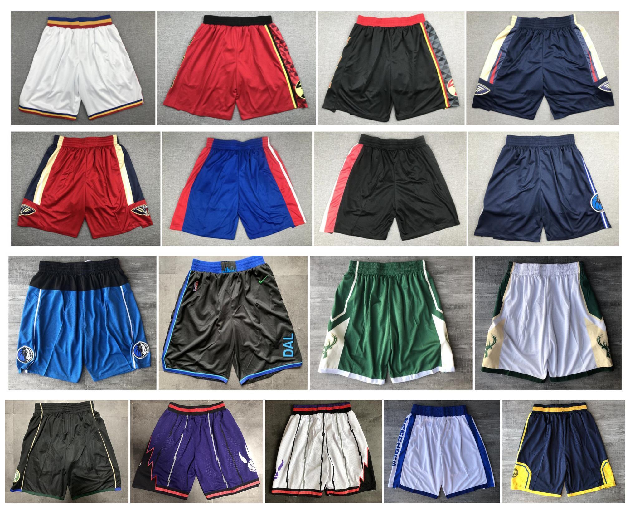 Новое высокое качество! 2020 Команда Баскетбол Шорты Мужские шорты Спортивные шорты колледжа Брюки Белый Черный Красный Фиолетовый Желтый