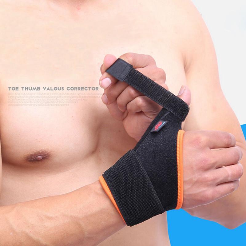 Sport réversible poignet droit Brace Aménagée pouce gauche stabilisateur Wrist Support Wrap Basketball Badminton Tennis Haltérophilie