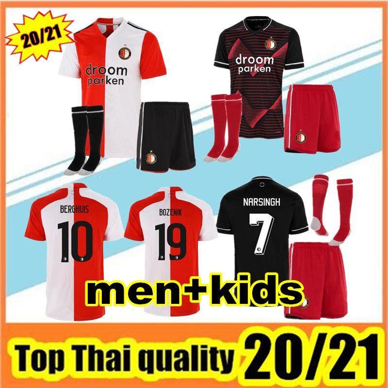20 21 Feyenoord fútbol Jersey KOKCU camiseta de fútbol Camiseta de futbol Berghuis JORGENSEN camiseta de fútbol 2020 2021 Feyenoord SENESI niño maillot