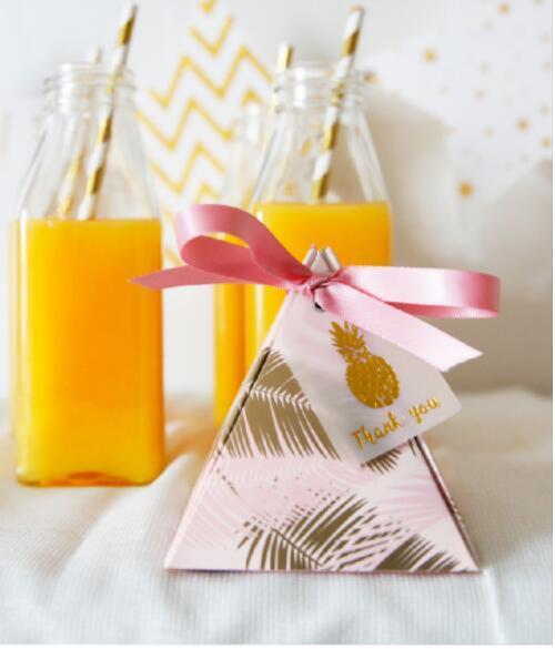 Новая треугольная пирамида Листья конфеты коробка свадебные сувениры и подарки коробки шоколада коробки Bomboniera Подарками Коробки для вечеринок