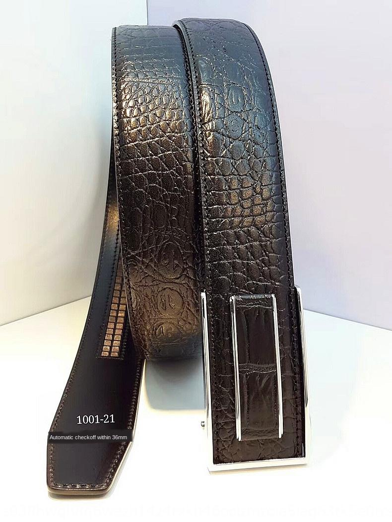 haut de coupe de peau de vache hommes couche cuir enduit intérieur peau de vache 1001-1021 boucle automatique 3.6 large ceinture de ceinture