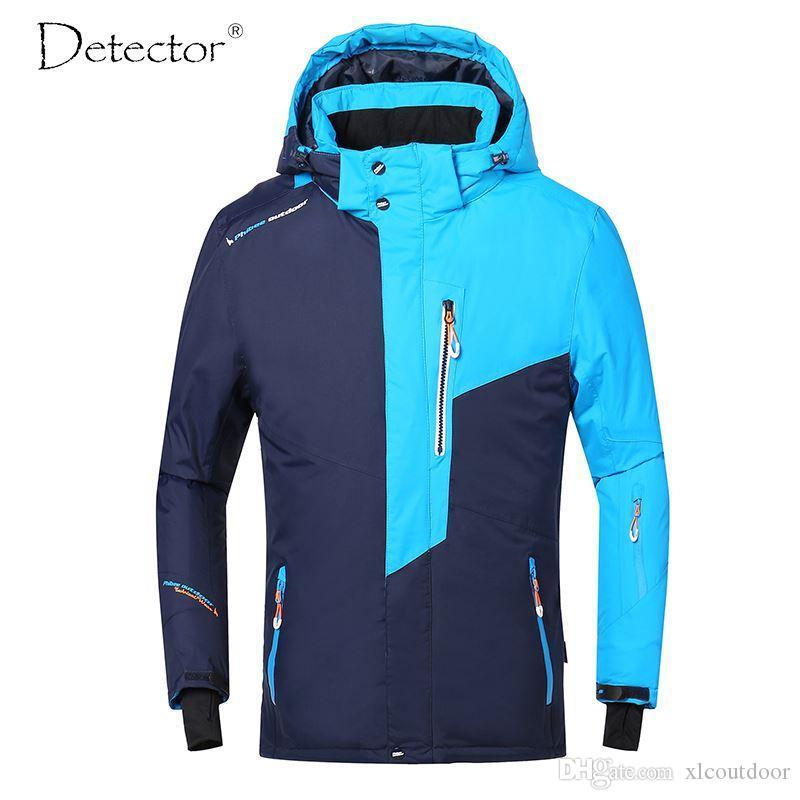 Detector Hombres chaqueta de esquí de invierno Snowboard Traje caliente al aire libre impermeable a prueba de viento y transpirable Ropa de hombre