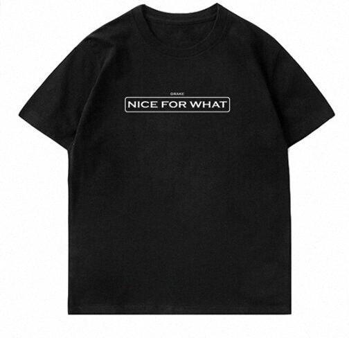 Rapper Hip Hop-Männer-Frauen-Sommer-T-Shirt Nizza für das, was drucken T-Shirt Liebhaber High Street beiläufige kurze Sleeved Tees ShWr #